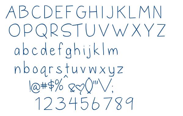 Dandelion in the Spring font