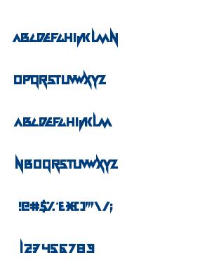 Electramaniacal font
