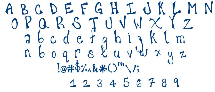 Happy Hanneke font