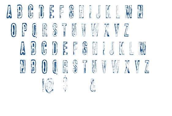 Vtks Carrier font