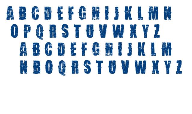 VTKS Desgaste font