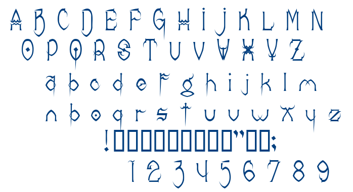 Donree's Claws font