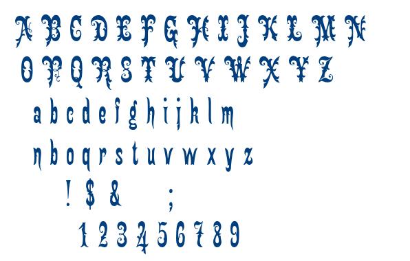 Gingerbread Victorian font