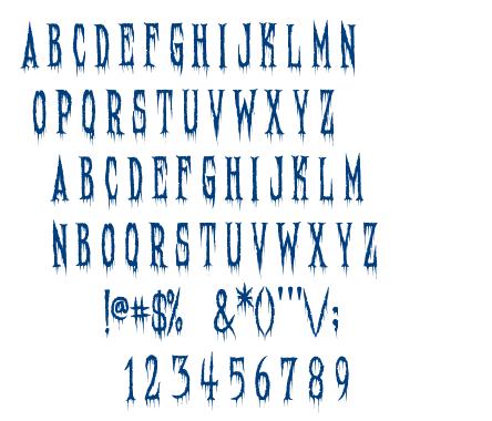 Needleteeth font