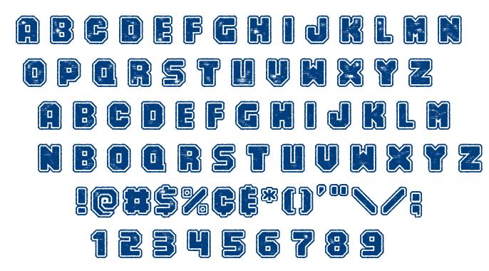 Numero 10 font