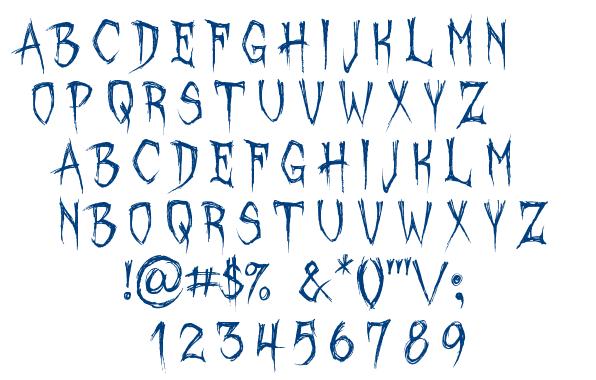 October Crow font