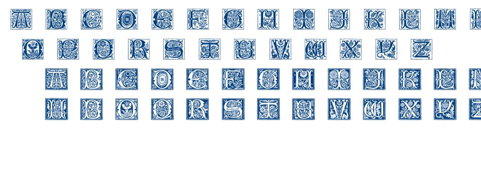 Romantique Initials font