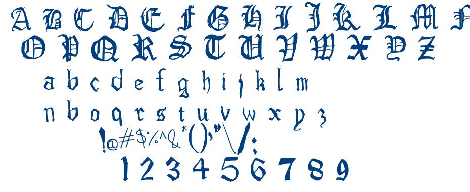 Drawn Old English Fontm