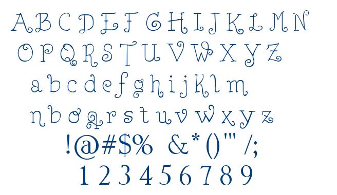 Lejana font