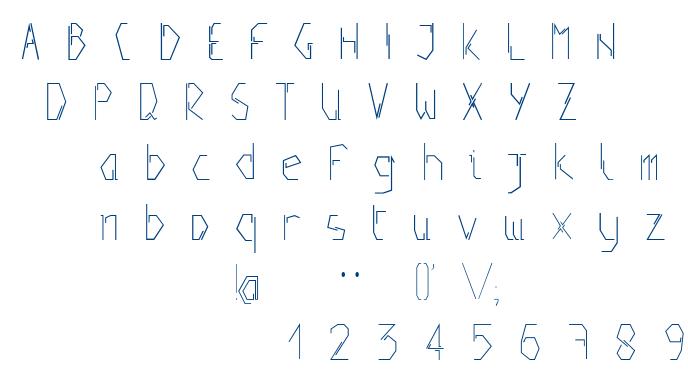 Positive font