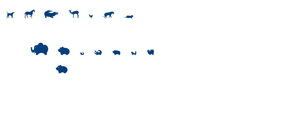 Zoological font