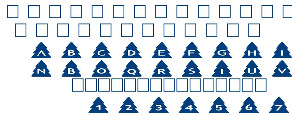 alphashapes xmas trees font