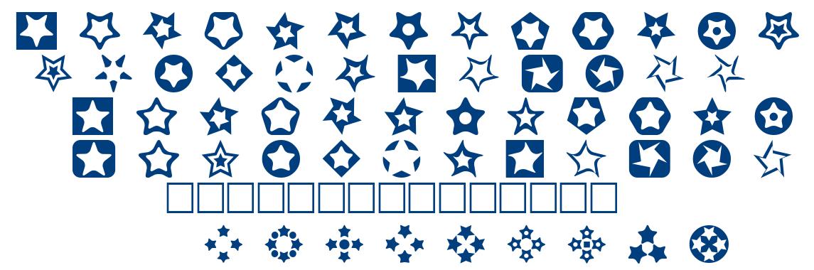 Stars for 3D FX font
