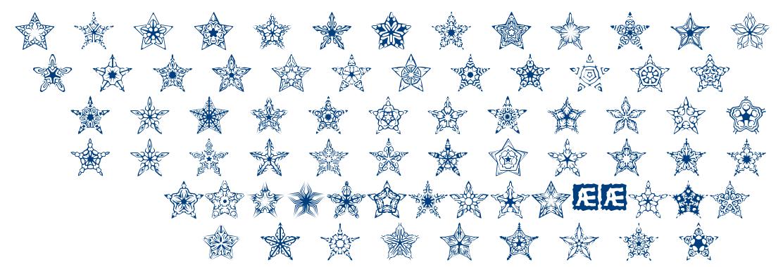 90 Stars BRK font