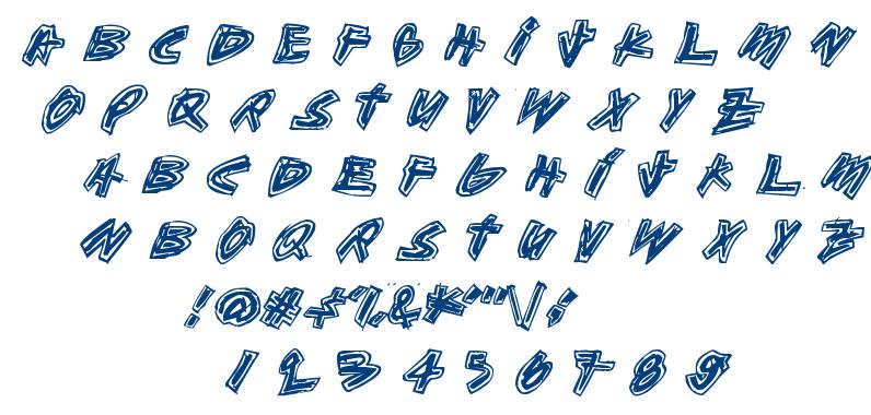 Aikasiirtyma font