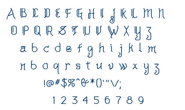 AkashiMF font