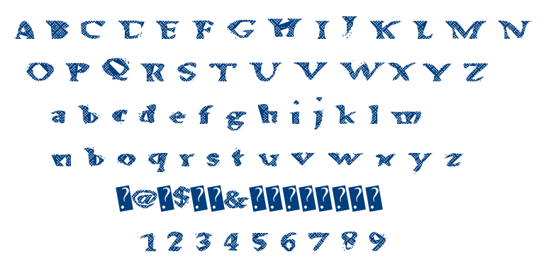 Alien Waffle font