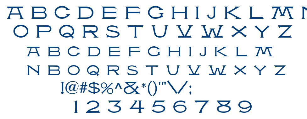 Atlantis MF font