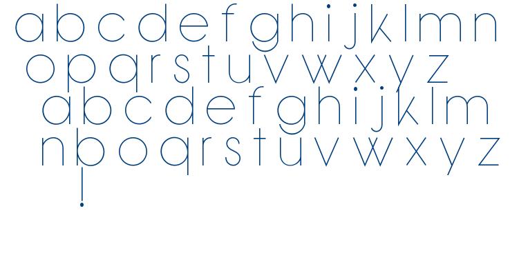 Bondoluo Peek font