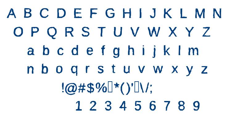 BurnIt font