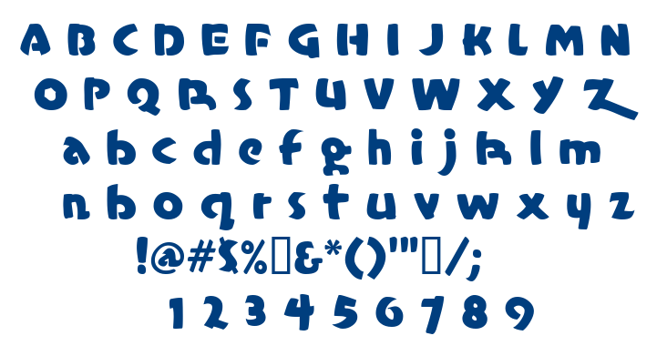 Casual Marker font