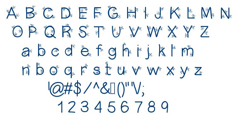 Christmas Lightness font
