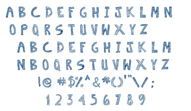 Escaned font