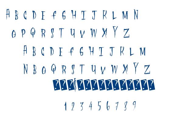 Flesh Digster font