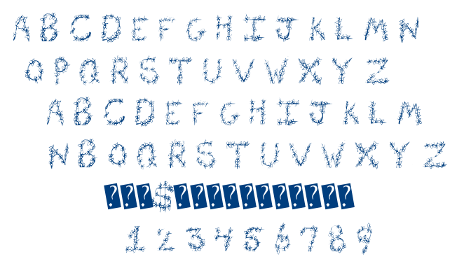 Flower Header font