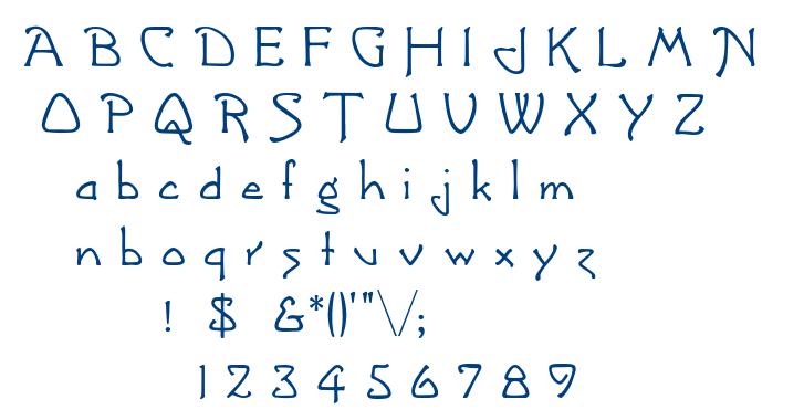 Greetings font