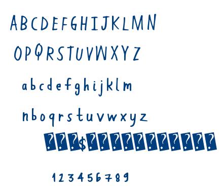Hand Work font