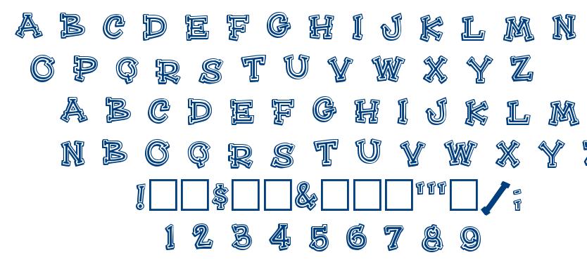 HeeHaw font