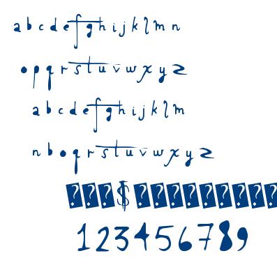 Holy Scriptacular font