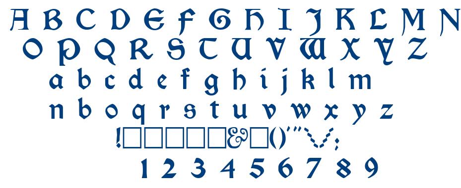 Kelmscott font