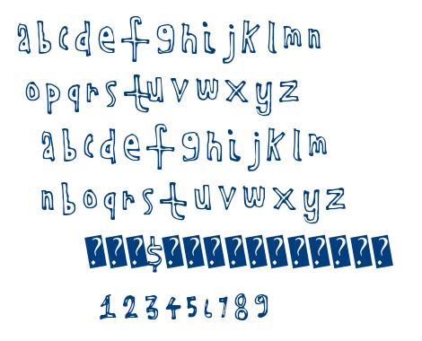 Kids Outline font