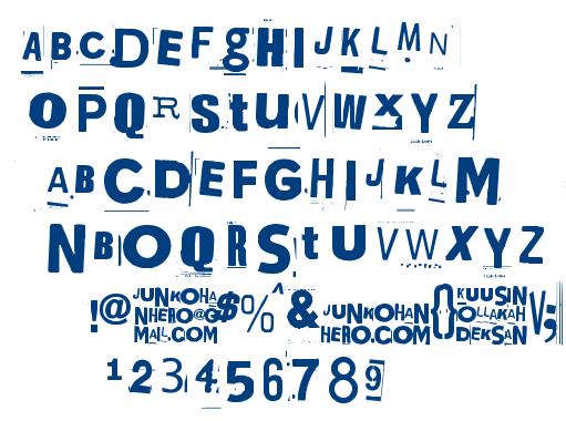 Kuusinollakahdeksan font