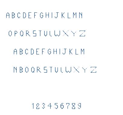 Liner 34 font