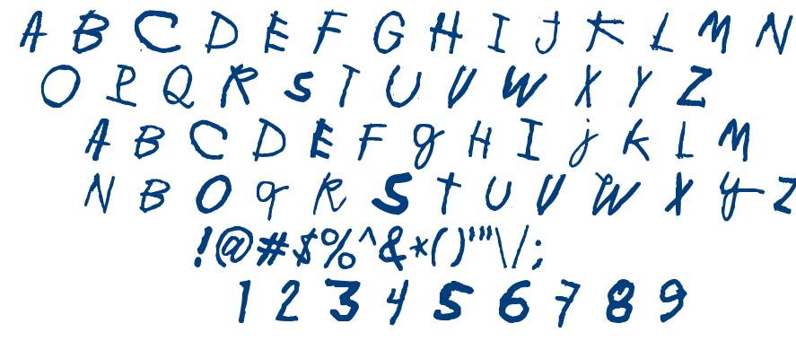 Minen oo kenguru font