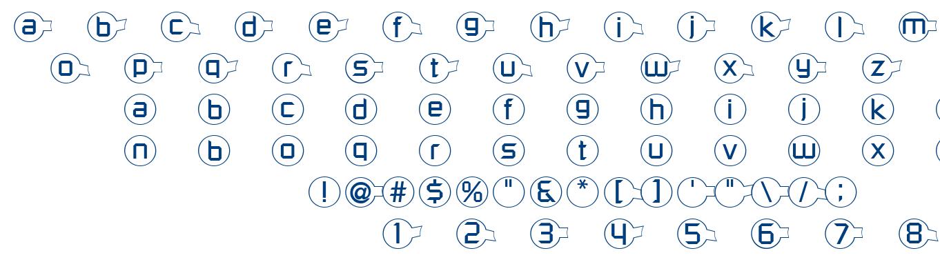 Molecular font