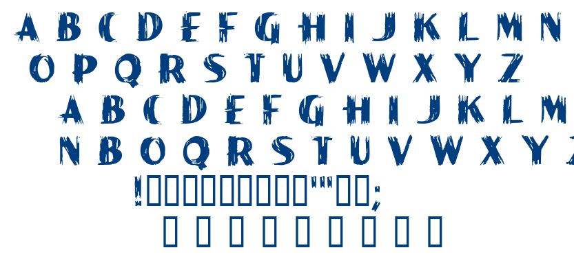 Paint Peel font