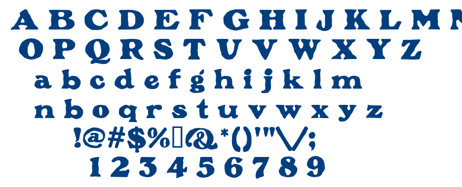 Plymouth font