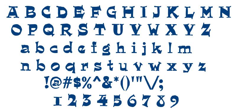 Quaint font