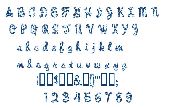 Rope MF font