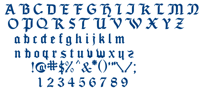Seagram TFB font
