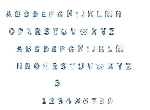 Some Lines font