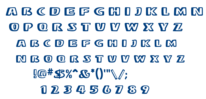 Stereo MF font