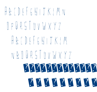 Thin Fine font