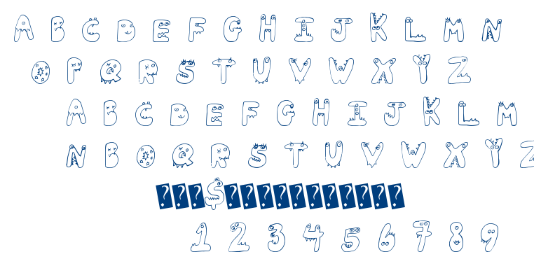 Tiny Friends font