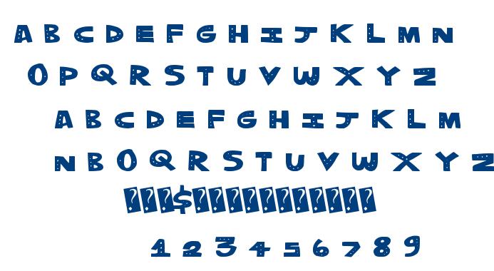 Tripple Dots font