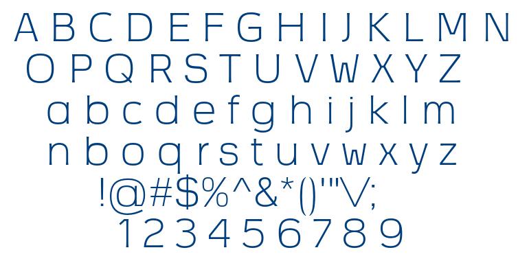 Vezus Light font